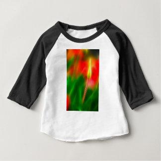 Lueur verte, rouge et jaune de tulipe t-shirt pour bébé
