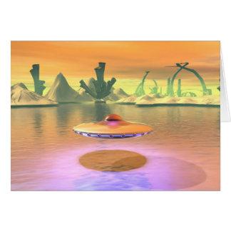 L'UFO étranger de lac enlèvent la carte