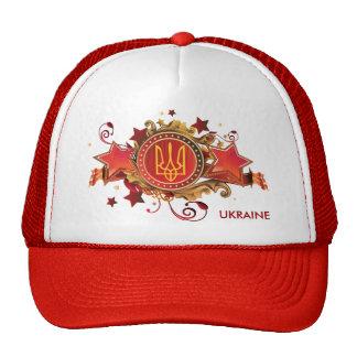 L'Ukraine. Casquette avec l'emblème