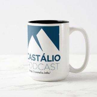 L'Uma caneca de café font Castálio ! Mug Bicolore