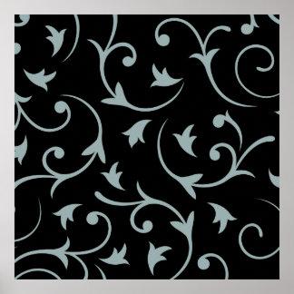 Lumière baroque Teal de conception et noir