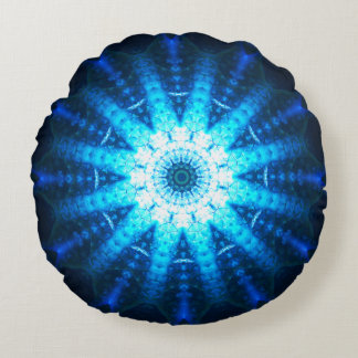 Lumière bleue lumineuse coussins ronds