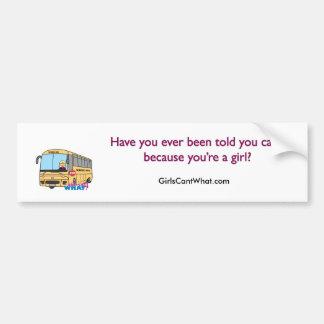 Lumière/blonde de chauffeur d'autobus scolaire autocollant pour voiture