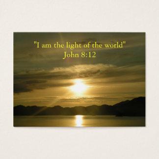 Lumière - carte chrétienne de carte de