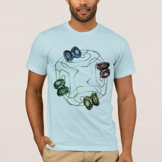 Lumière colorée de yo-yo t-shirt