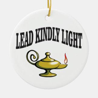 lumière d'avance de lampe bonne ornement rond en céramique
