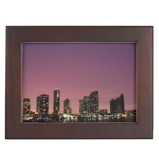 Lumière de coucher du soleil au-dessus de Miami Boîte À Souvenirs