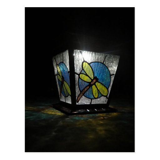 Lumière de libellule carte postale