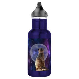Lumière de lune de Meerkat, bouteille d'eau en