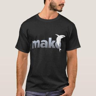 Lumière de Mako sur le T-shirt foncé de logo