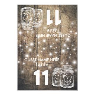 Lumière de pot de maçon de nombre de Tableau Carton D'invitation 8,89 Cm X 12,70 Cm
