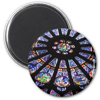 Lumière en verre magnet rond 8 cm