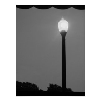 Lumière noire et blanche affiches