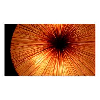 Lumière orange carte de visite
