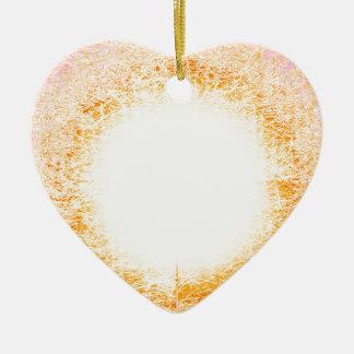 lumière ornement cœur en céramique