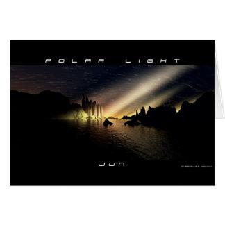 Lumière polaire carte de vœux