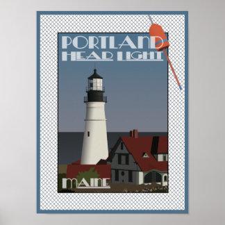 Lumière principale de Portland, copie d'affiche du