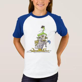 Lumière raglane B de T-shirt de BANDE DESSINÉE