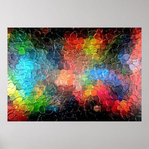 Lumi res abstraites de la peinture pendant la nu posters - Poster peinture ...
