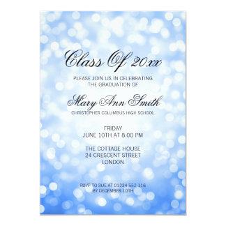 Lumières bleues de scintillement de fête de remise carton d'invitation  12,7 cm x 17,78 cm