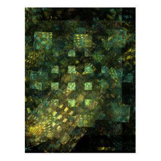 Lumières dans la carte postale d'art abstrait de