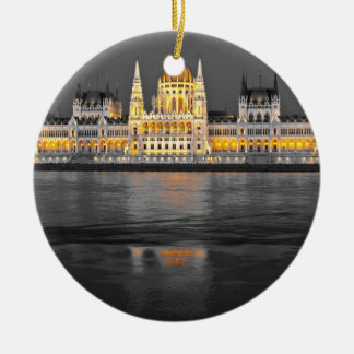 Lumières de Budapest Ornement Rond En Céramique