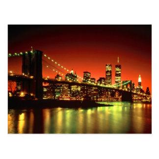 Lumières de New York City Carte Postale