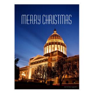 Lumières de Noël sur le capitol, Little Rock Carte Postale