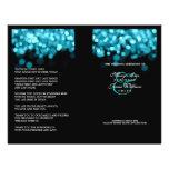 Lumières de turquoise de programme de mariage prospectus 21,6 cm x 24,94 cm