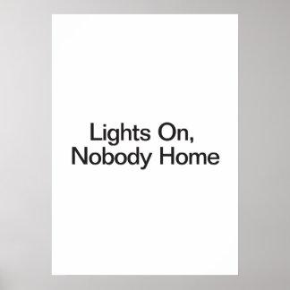 Lumières dessus personne à la maison poster