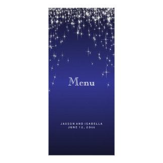 Lumières d'étoile dans bleu-foncé - menu