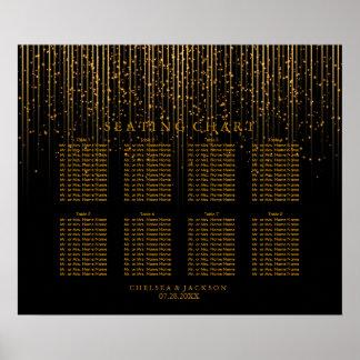Lumières d'étoile et noir d'or - diagramme posters