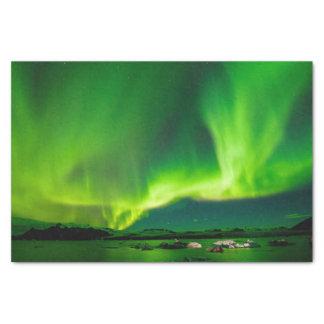 Lumières du nord de l'Islande Papier Mousseline