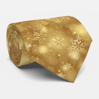 Lumières et flocons de neige, or - cravates de