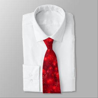 Lumières et flocons de neige, rouge - cravates de