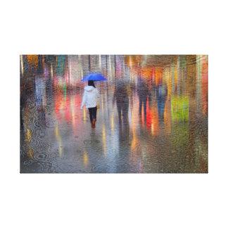 Lumières et toile pluvieuse de nuits