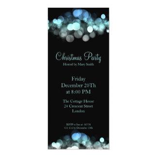 Lumières miroitantes bleues d'invitation élégante carton d'invitation  10,16 cm x 23,49 cm