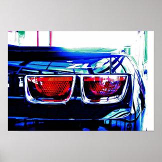 Lumières noires de queue de Camaro ZL1 avec le déc Poster