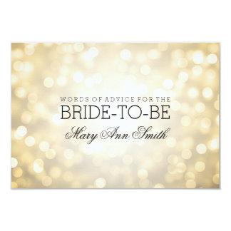 Lumières nuptiales de scintillement d'or de douche carton d'invitation 8,89 cm x 12,70 cm