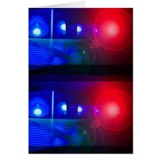 lumières rouges et bleues de police carte de vœux