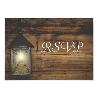 Lumières rustiques élégantes de lanterne de RSVP Carton D'invitation 8,89 Cm X 12,70 Cm
