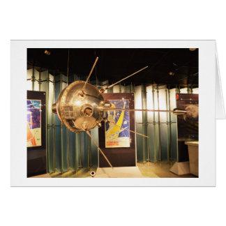Luna 1 modèle de station spatiale carte de vœux