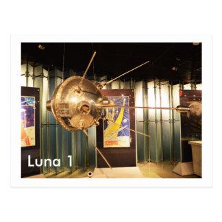 Luna 1 modèle de station spatiale carte postale