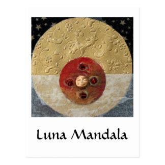 Luna - collage cartes postales