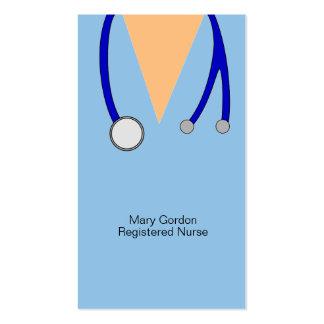 Lunatique frotte et infirmier autorisé de carte de visite standard