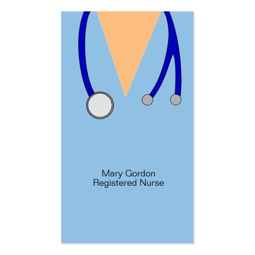 Lunatique frotte et infirmier autorisé de stéthosc cartes de visite professionnelles