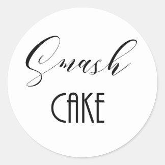 "Lunatique ""gâteau de fracas "" sticker rond"
