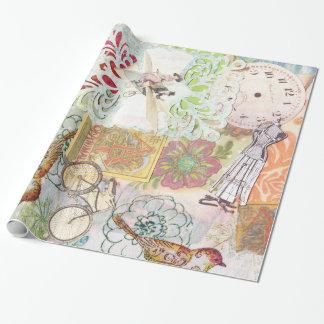 lunatique vintage moderne papier cadeau