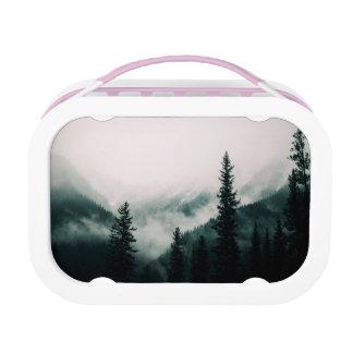 Lunch Box Au-dessus des montagnes et de la cuvette les bois