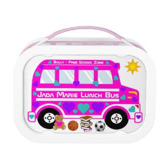 Lunch Box Autobus de repas scolaire de roses indien